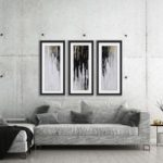 The interior design idea concept of loft living room and concret