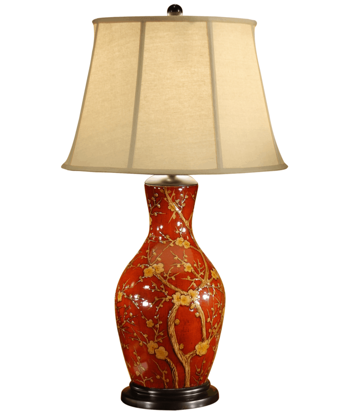 Blossom On Red Porcelain Lamp Wildwood Lamps 46472