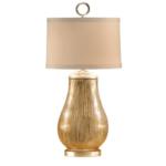 Chelsea House Brckton Leather Lamp Antique Brass Accents