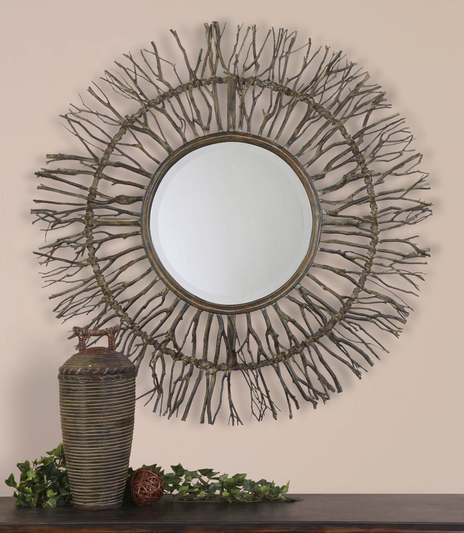 Vivian Wall Mirror By Uttermost: Josiah Contemporary Round Wall Mirror By Uttermost