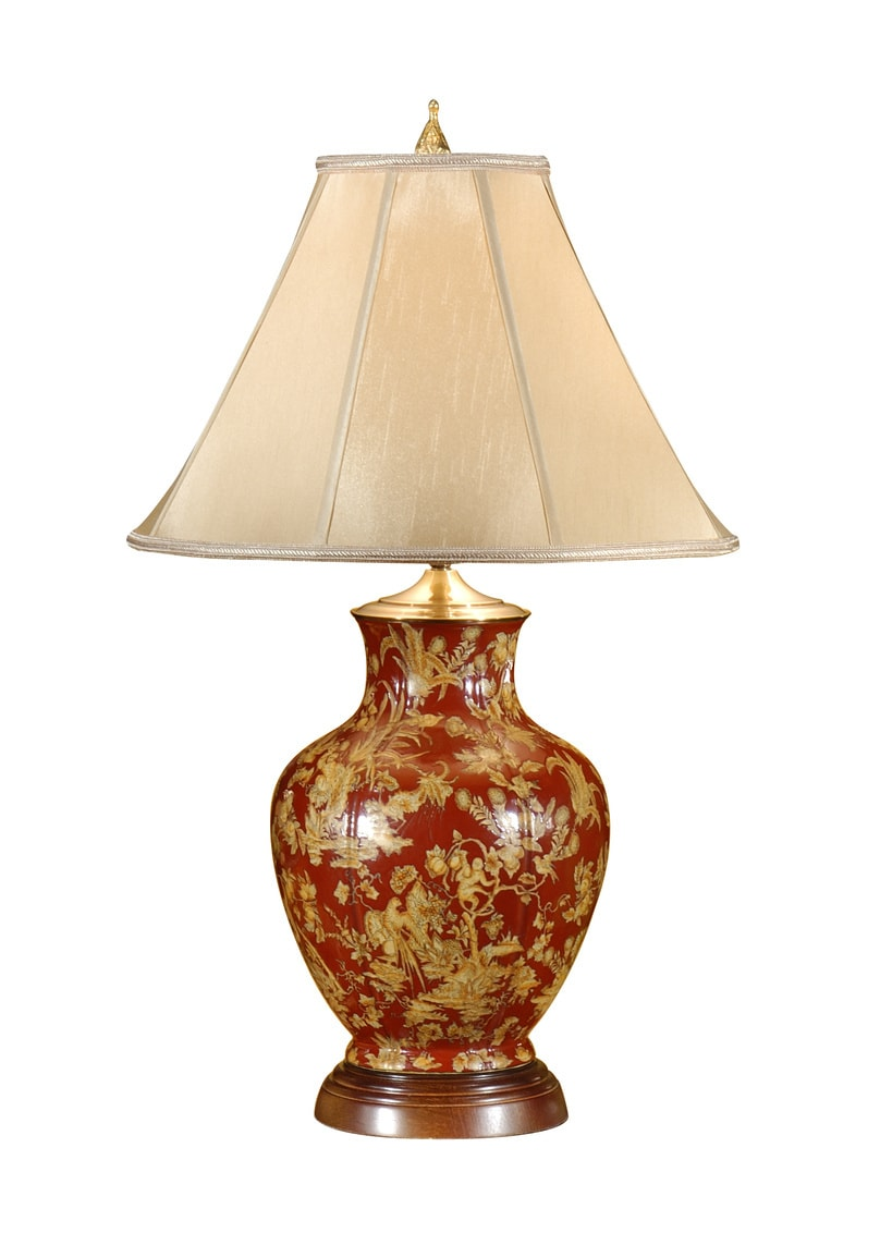 Oxblood And Yellow Porcelain Lamp Wildwood Lamps 9110