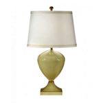 Pretty Green Ceramic Lamp by Wildwood Lamps 30 1 1