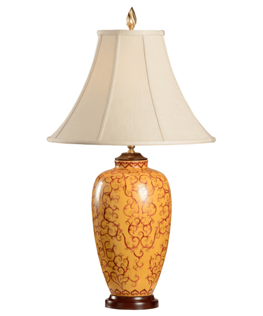 Red On Yellow Porcelain Lamp By Wildwood Lamps 30