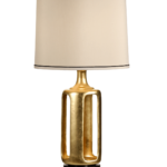 Sideless Vase Gold Porcelain Lamp by Wildwood Lamps 30