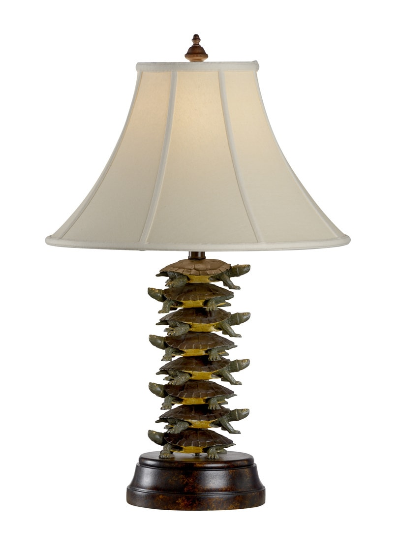 Tiered Turtles Iron Lamp By Wildwood Lamps 30