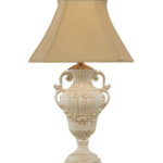 Victorian Fruits White Ceramic Lamp by Wildwood Lamps 34