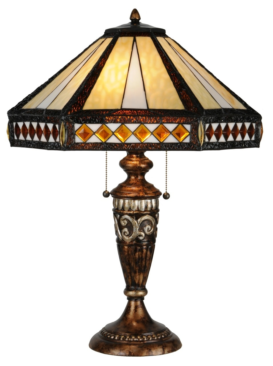 products diamond band mission table lamp amber 139416  10176.1514997919.1280.1280