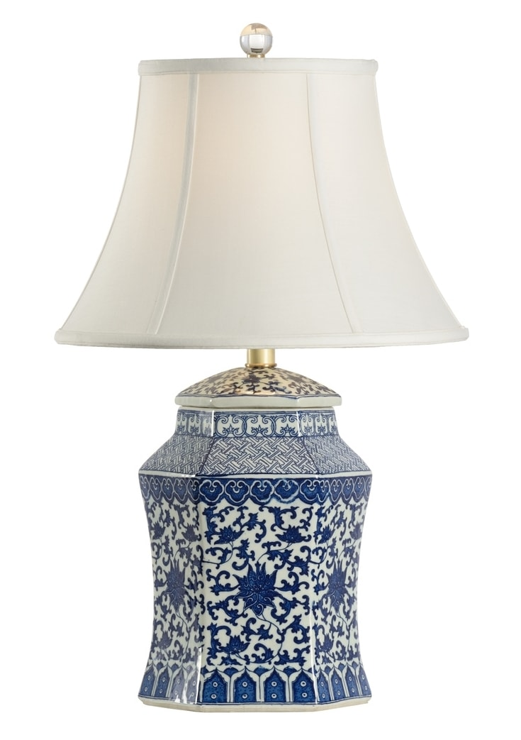 Dynasty Vase Blue White Lamp By Chelsea House 24