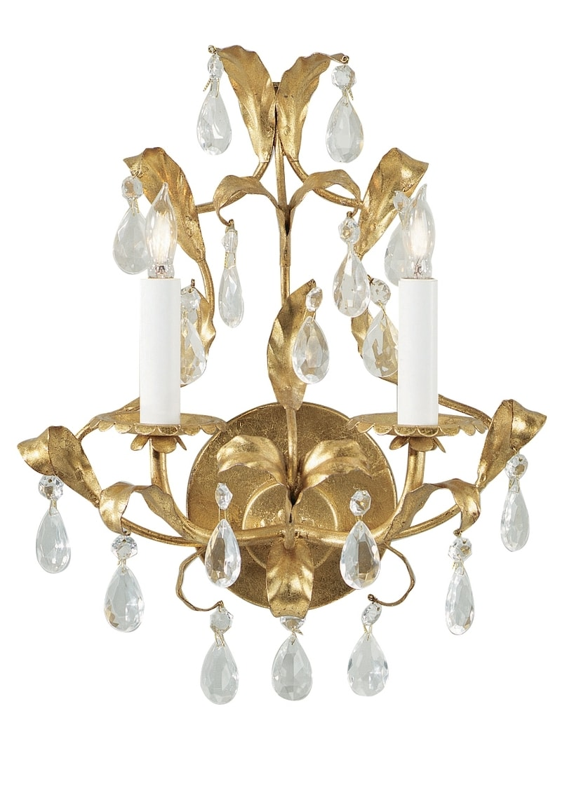Image of: Wildwood Lamps Gold Crystal Sconce 2214