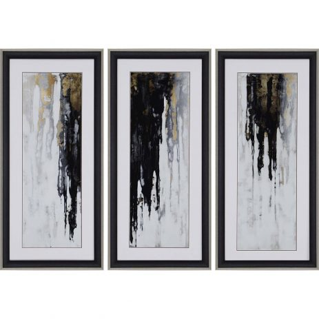 Neutral Space I Framed Wall Art Set Of 3 45 X 21