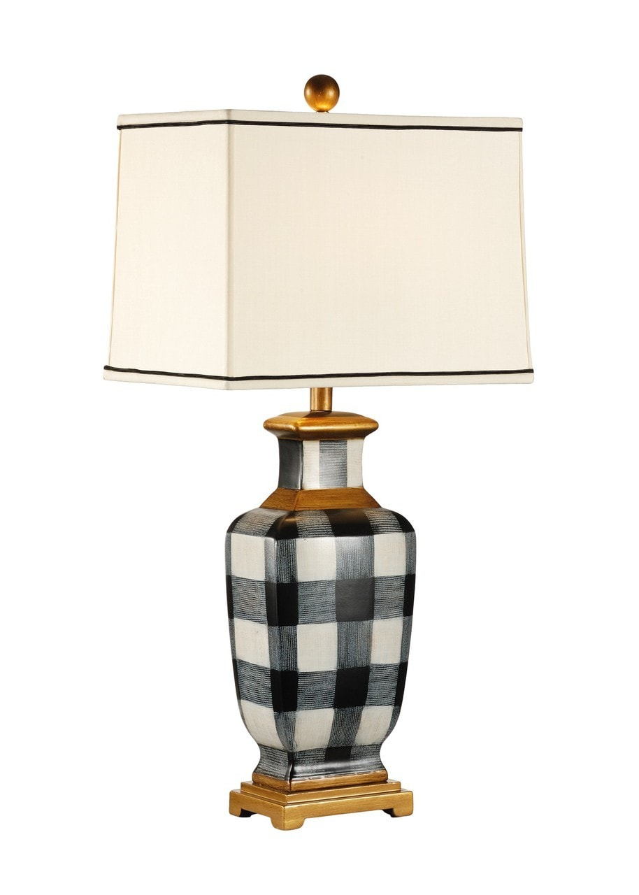 Picture of: Plaid Black White Table Lamp By Chelsea House 30 Fine Home Lamps