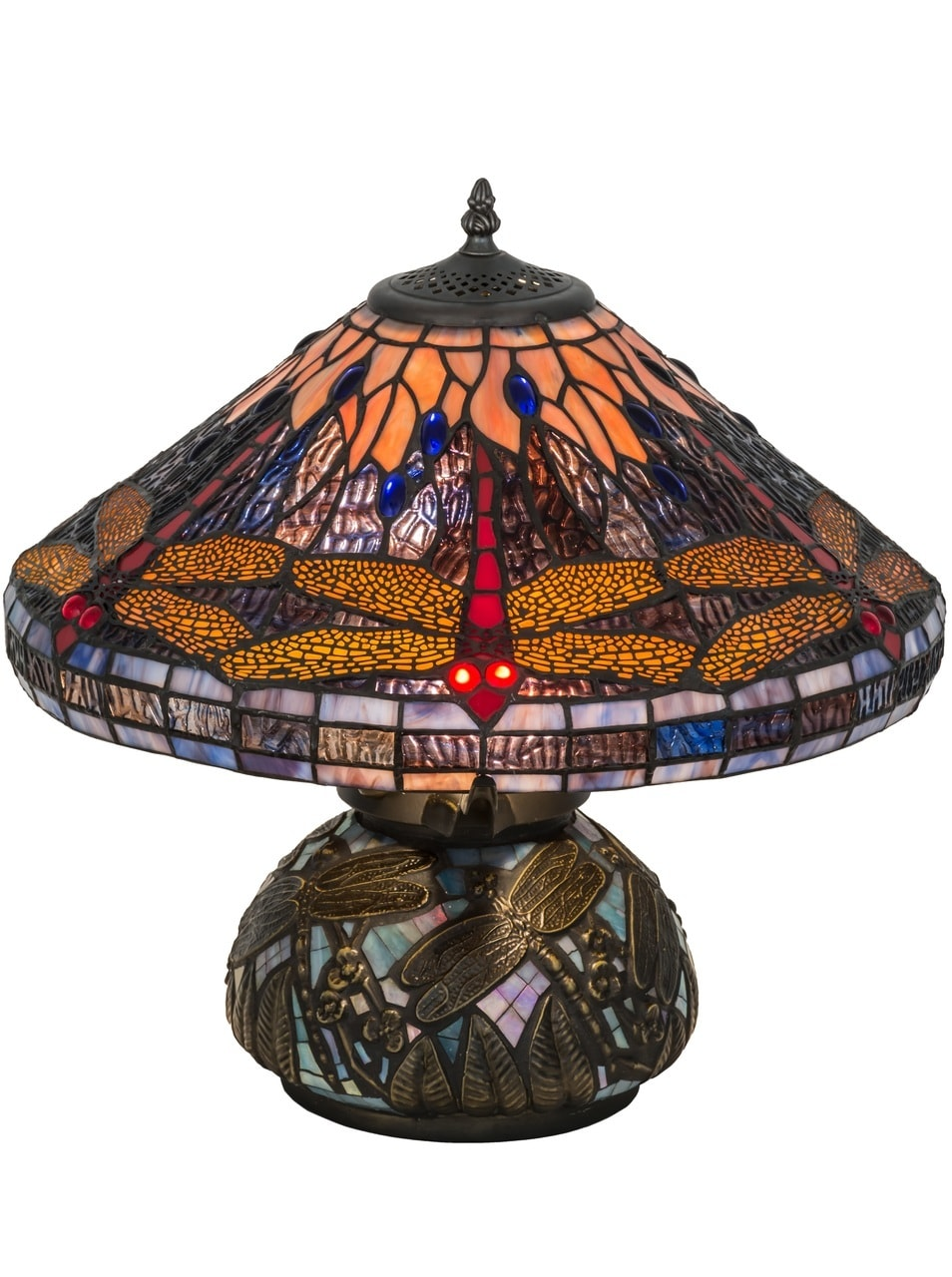 Tiffany Hanginghead Dragonfly Cone Table Lamp By Meyda 16