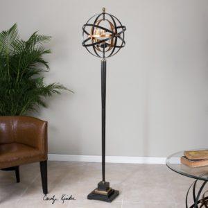 Rondure Sphere Floor Lamp by Uttermost
