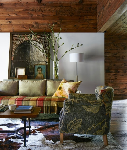 rustic design with plaid patterns