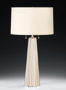 Barocci White Venetian Glass Lamp