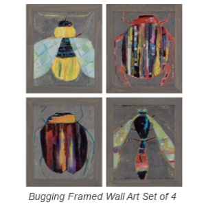 Bugging Framed Wall Art Set of 4