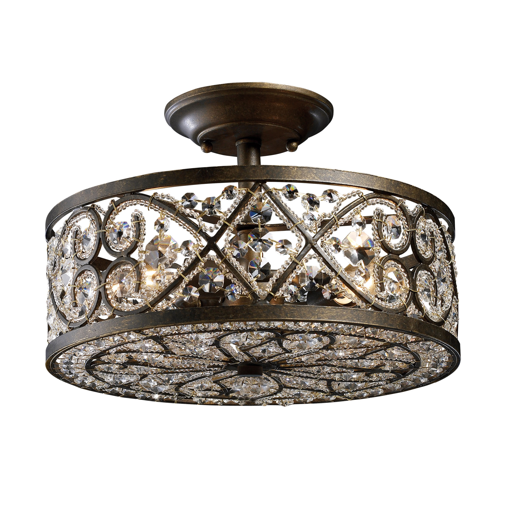 EL-11286/4_Amherst 4-Light Semi-Flush in Antique Bronze