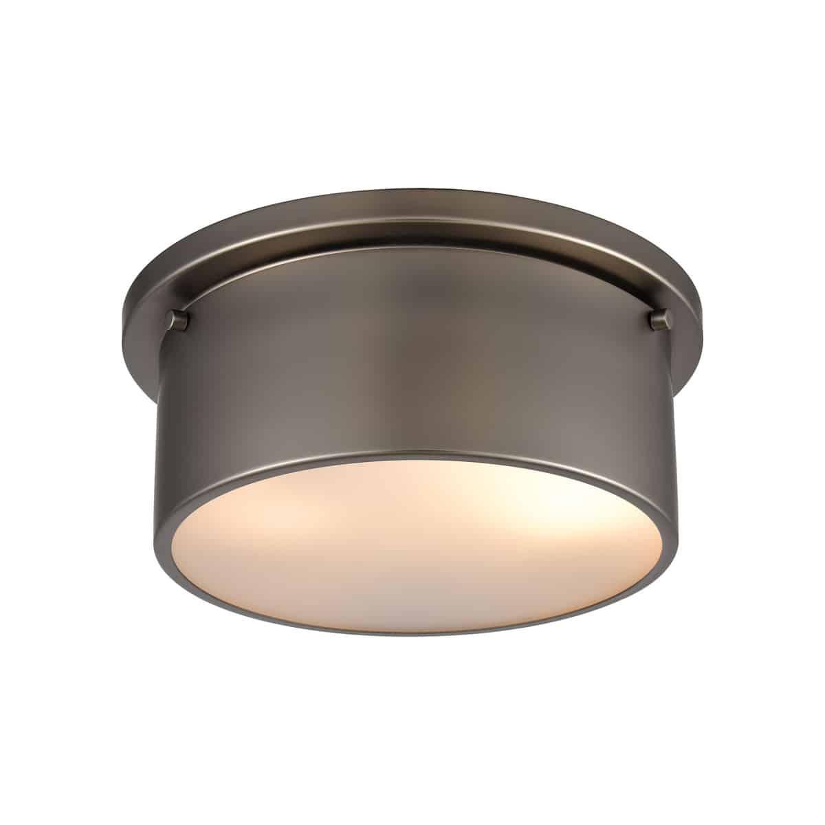 EL-12110/2_2 light flush mount in Black Nickel.