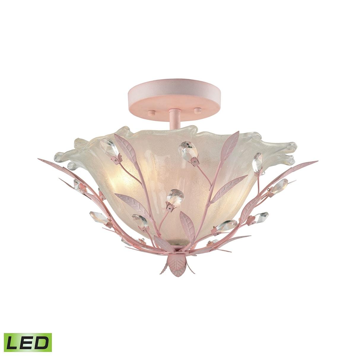 EL-18151/2-LED_Circeo 2 Light LED Semi Flush in Light Pink