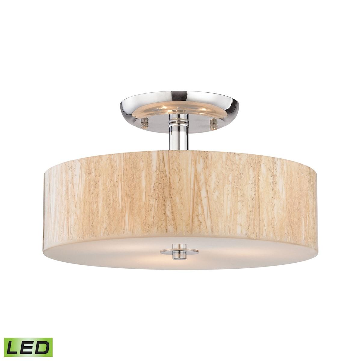 EL-19038/3-LED_Modern Organics 3 Light LED Semi Flush in Polished Chrome