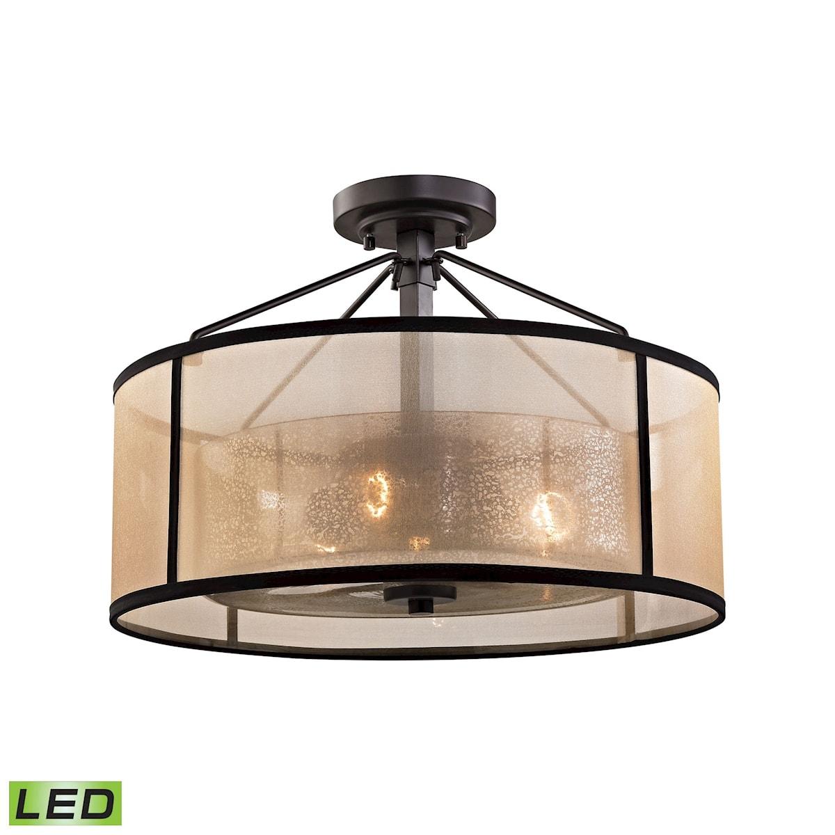 EL-57024/3-LED_Diffusion 3-Light Semi-Flush in Oil Rubbed Bronze - LED