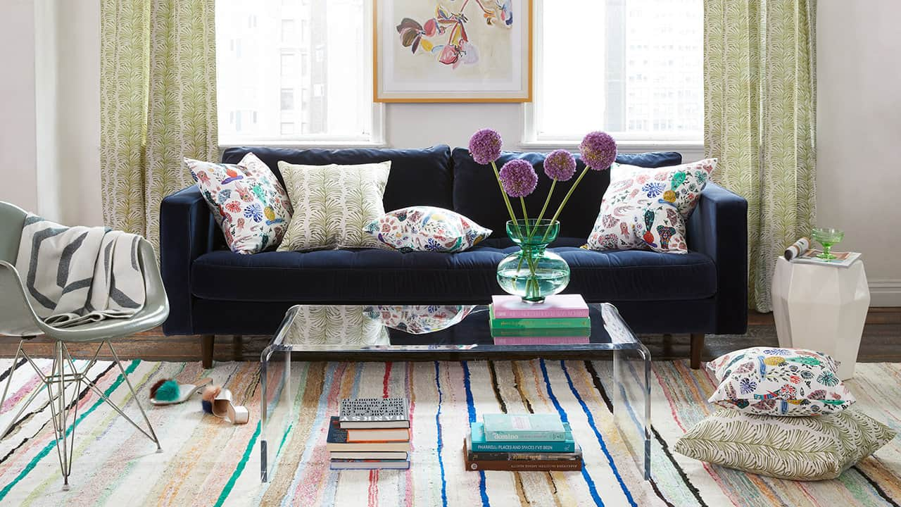 Modern Eclectic Living Room Design Ideas - Fine Home Lamps