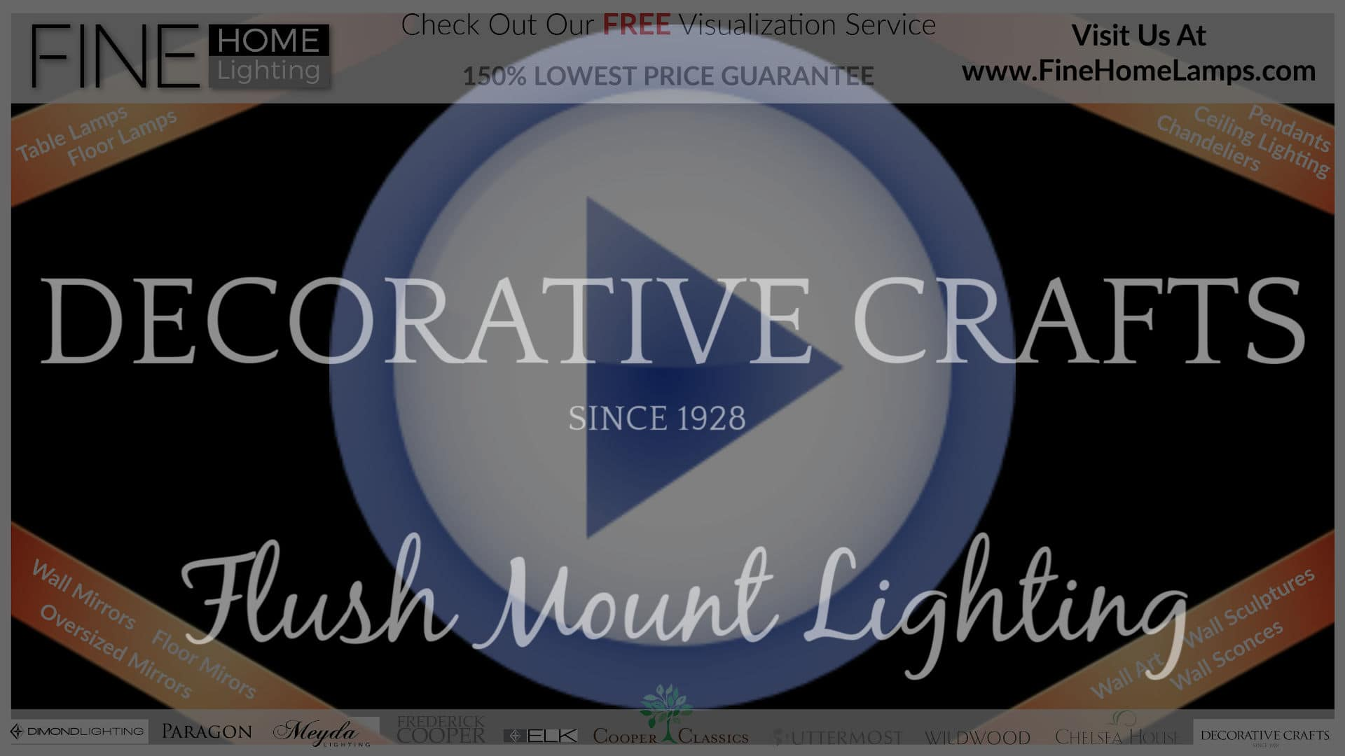 DECORATIVE-CRAFTS-FLUSH-MOUNT-LIGHTING-Thanks-for-watching-this-video-Get-an-additional-15-percent-off-your-next-purchase-Use-Coupon-Code-VIDEO