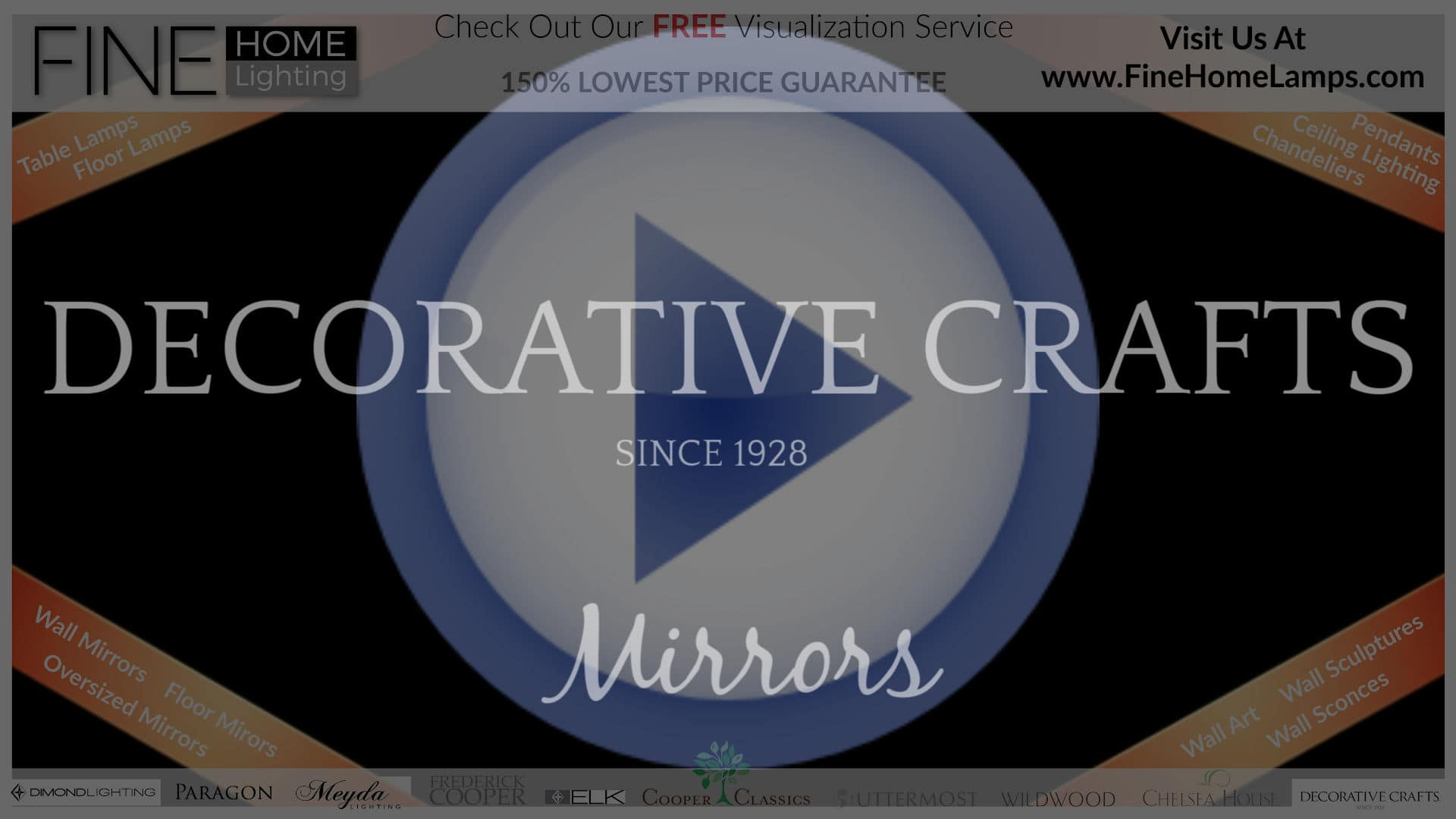 DECORATIVE-CRAFTS-Mirrors-Thanks-for-watching-this-video-Get-an-additional-15-percent-off-your-next-purchase-Use-Coupon-Code-VIDEO