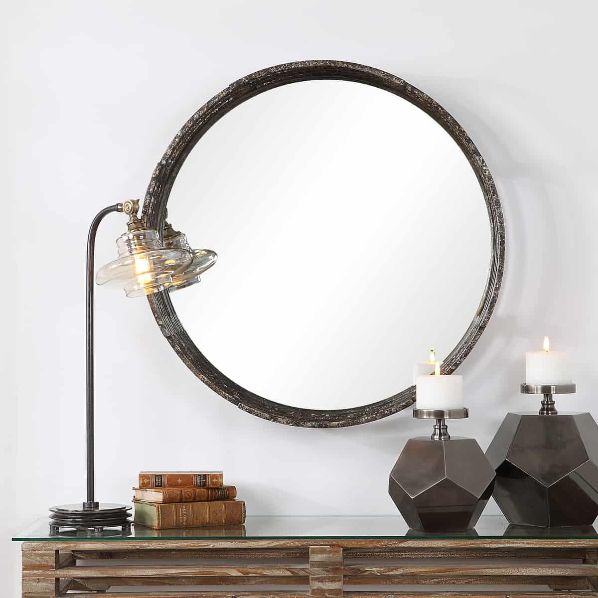 Genovia Industrial Round Mirror_U-09538