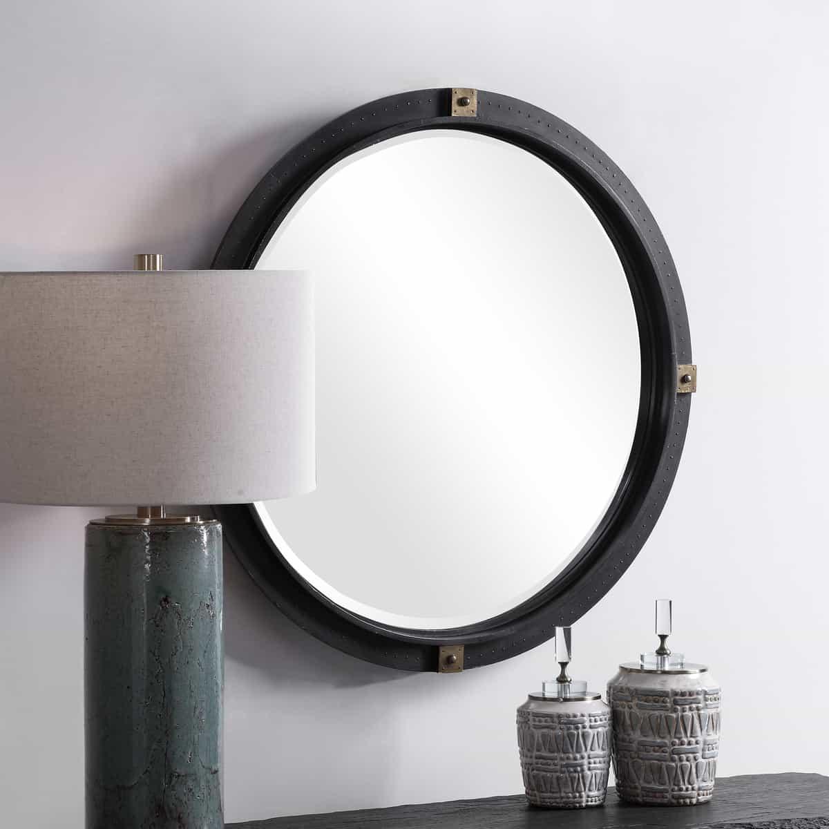 Tull Industrial Round Mirror_U-09635