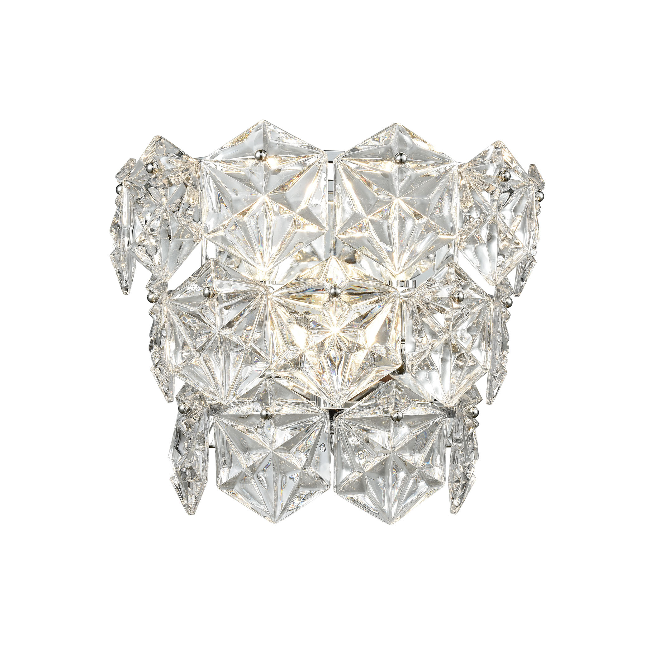 Lavique 3-Light Sconce in Polished Chrome with Clear Crystal_EL-81242/3