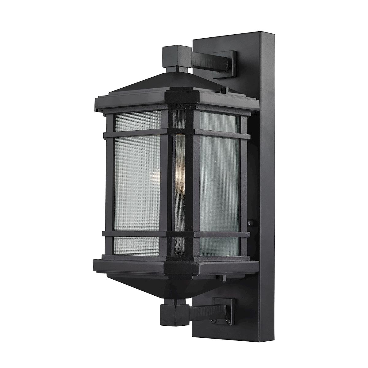 Lowell 1-Light Outdoor Wall Lamp in Matte Black_EL-87041/1