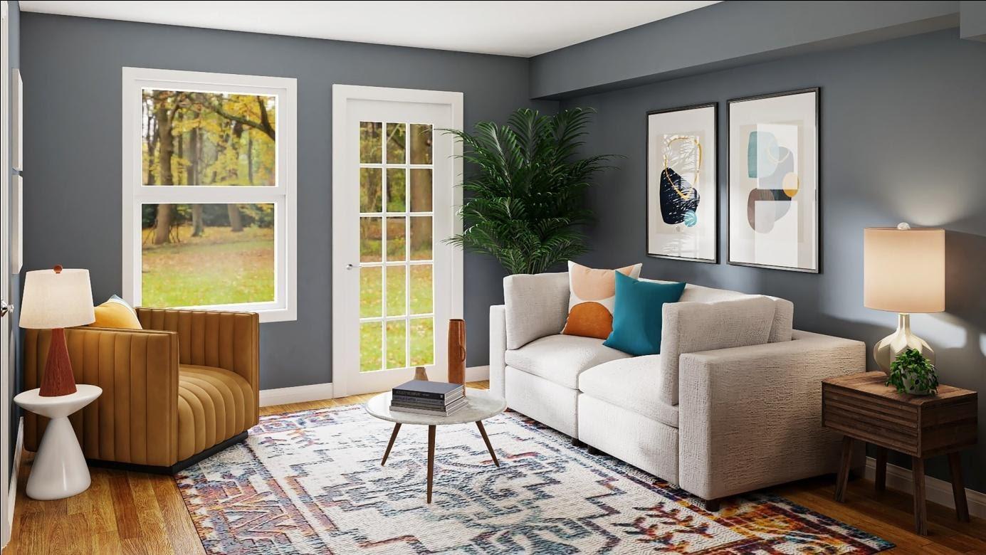 Colorful interior design decor